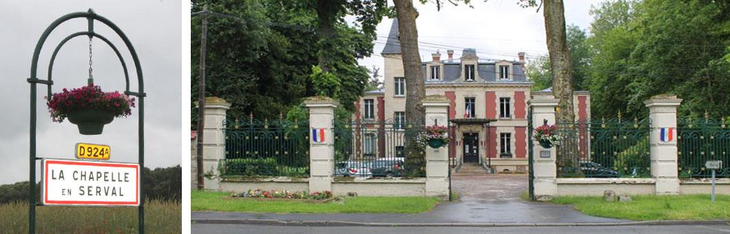 """Unsere Partnerstadt """"La Chapelle-en-Serval"""" in Frankreich"""